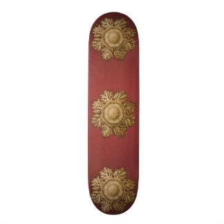 Toreuma Bellagemma Gold & Red Skateboard Deck