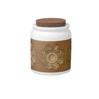 Toreuma Bellagemma Gold & Tan Candy Jars