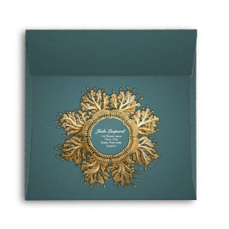 Toreuma Bellagemma Gold & Teal Envelope