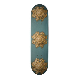 Toreuma Bellagemma Gold & Teal Skateboard Deck
