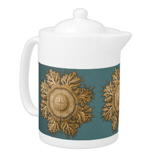 Toreuma Bellagemma Gold & Teal Teapot
