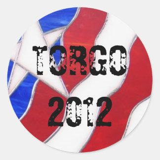 TORGO 2012 CLASSIC ROUND STICKER