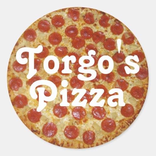 Torgo's Pizza Classic Round Sticker