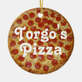 Torgo's Pizza Double-Sided Ceramic Round Christmas Ornament