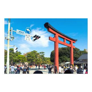 Tori Entrance At Hachimangu Shrine Photo Print