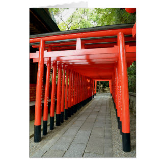 Torii Arches of Inuyama, Japan Greeting Card