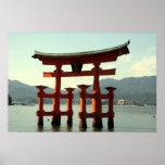 torii del itsukushima posters