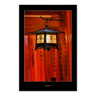 Torii Gate and Lantern Poster