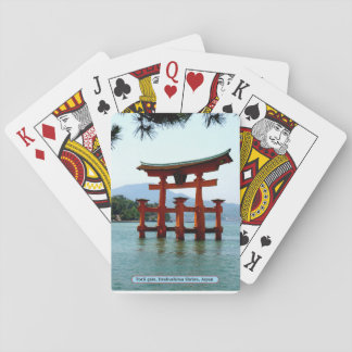 Torii gate, Itsukushima Shrine, Japan Playing Cards