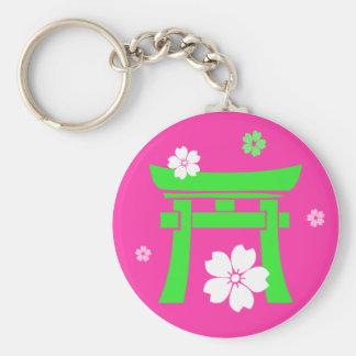 Torii (green & pink) key chains
