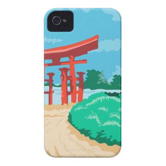 Torii Japanese Gate WPA iPhone 4 Case-Mate Case