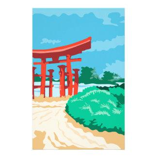 Torii Japanese Gate WPA Stationery