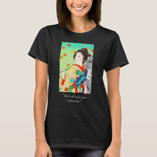 Torii Kiyomitsu Snow Moon Flower Autumn Lady T-Shirt