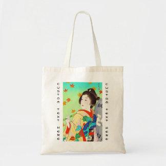 Torii Kiyomitsu Snow Moon Flower Autumn Lady Tote Bag
