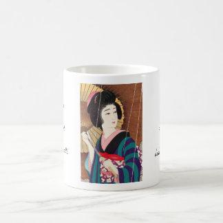 Torii Kotondo doce aspectos de las mujeres lluvia Tazas De Café