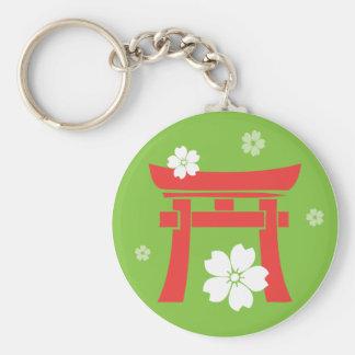 Torii (orange & green) key chains