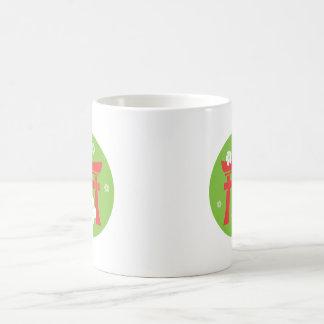 Torii (red and green) mug