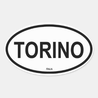 TORINO CALCOMANÍA DE OVAL PERSONALIZADAS