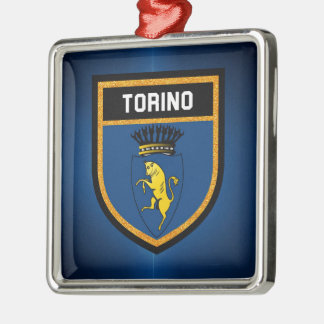 Torino Flag Metal Ornament