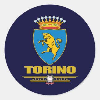 Torino (Turín) Pegatina Redonda