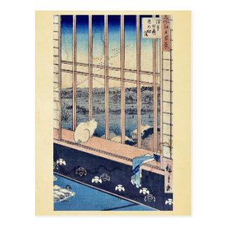 Torinomachi Festival by Ando,Hiroshige Postcards