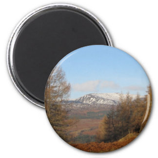 Torlum Hill, Perthshire, Scotland, Patsy Goodsir 2 Inch Round Magnet