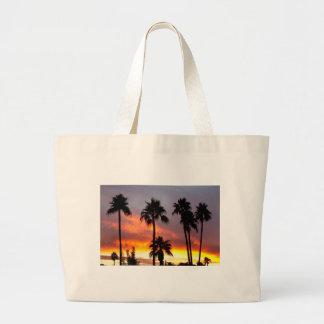 Tormenta colorida tropical bolsa de mano