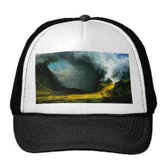 Tormenta de Albert Bierstadt en el gorra de las mo