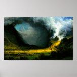 Tormenta de Albert Bierstadt en el poster de las m