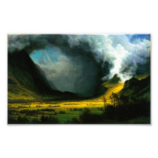 Tormenta de Albert Bierstadt en la impresión de la Fotografias
