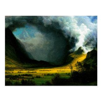 Tormenta de Albert Bierstadt en la postal de las m