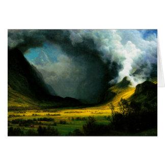 Tormenta de Albert Bierstadt en las montañas Felicitación