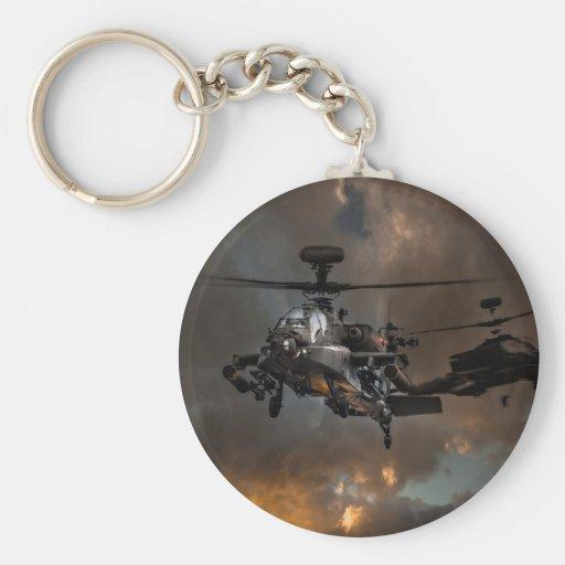 Tormenta de Apache Llavero Redondo Tipo Pin
