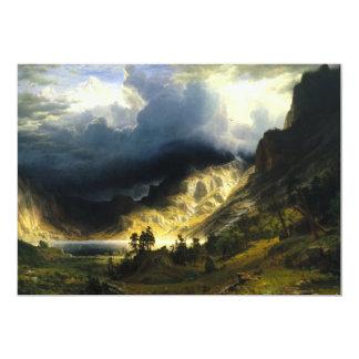 """Tormenta de Bierstadt en las montañas rocosas Invitación 5"""" X 7"""""""