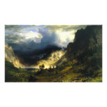 Tormenta de Bierstadt en las montañas rocosas Fotografía