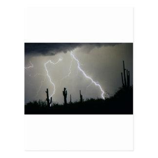 Tormenta de desierto de Arizona Tarjetas Postales