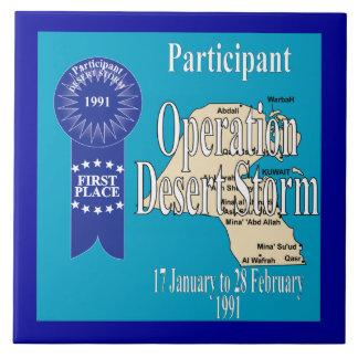 Tormenta de desierto de operación del participante azulejo cuadrado grande