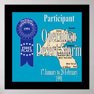 Tormenta de desierto de operación del participante póster