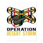 Tormenta de desierto del aguijón de la caballería postales