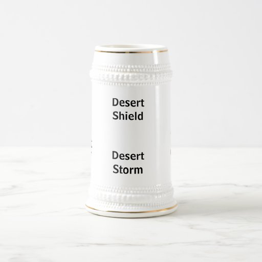 Tormenta de desierto del escudo de desierto tazas de café