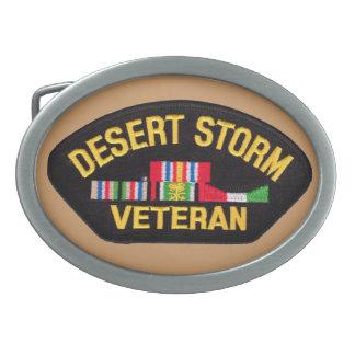 Tormenta de desierto - hebilla del cinturón hebilla de cinturón oval