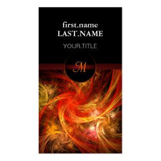 Tormenta de fuego fresca elegante moderna tarjetas de visita