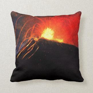 Tormenta de fuego y puesta del sol africana cojines