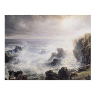 Tormenta de la costa del Belle-Ile Postales
