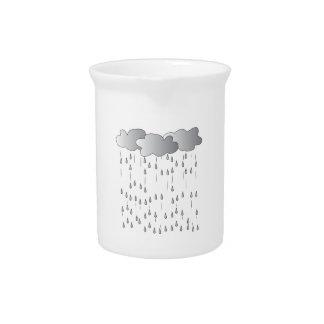 Tormenta de la lluvia jarra