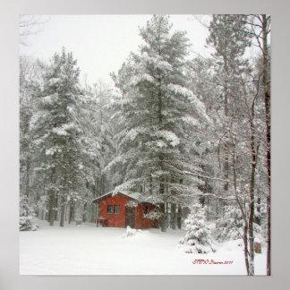 Tormenta de la nieve de la vertiente del invierno póster