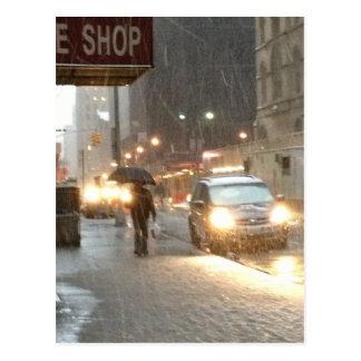 Tormenta de la nieve de Nueva York Postales
