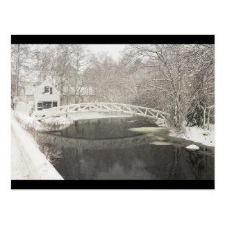 Tormenta de la nieve en Somesville Maine Postal