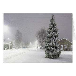 Tormenta de la nieve tarjeta de felicitación