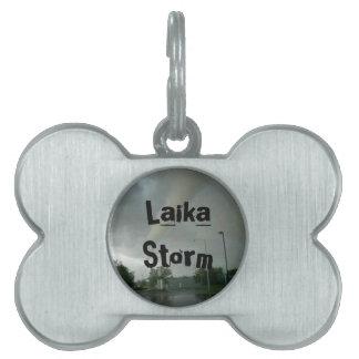Tormenta de Laika Placas De Mascota